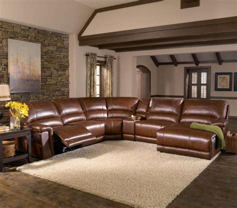 Leather Sectional Sleeper Sofa Recliner by Htl Furniture 2678cs Reclining Leather Sectional Sofa