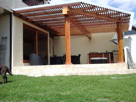 pergolas de madera cubiertas madera policarbonato  vidrio   en mercado libre