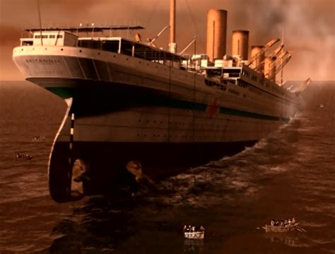 Sinking Of The Britannic by Hmhs Britannic Sinking Britannic 2000 Guardian