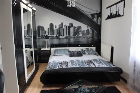 chambre adulte noir décoration chambre adulte noir et blanc