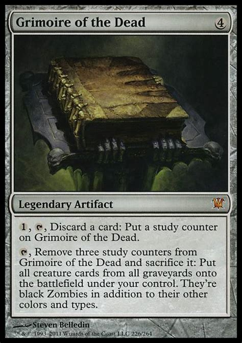 Artifact Deck Mtg Modern by Grimoire Of The Dead Isd Mtg Card