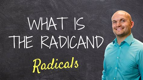 What is the radicand - YouTube