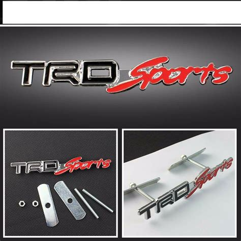 Sport Emblem by New Jdm Trd Sport Chrome Silver Metal Trd Front Grille