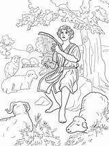 Coloring King David Printable Shepherd Bible Ausmalbilder Supercoloring Schafhirte Jonathan Pasterz Kolorowanka Bibel Malvorlagen Absalom Ausmalbild Herder Kleurplaat Goede Colorare sketch template