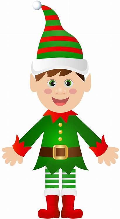 Elf Transparent Christmas Clip Santa Claus Clipart