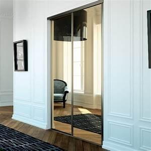 Porte Coulissante Miroir Sur Mesure : portes de placard coulissantes miroir bronze achat en ligne ~ Premium-room.com Idées de Décoration