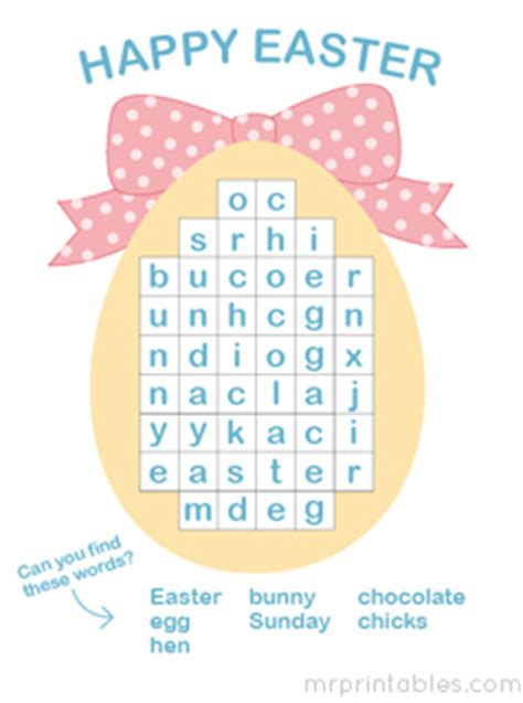 printable puzzles  easter  printables
