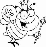 Bee Coloring Bumble Pages Printable Cartoon Activity sketch template