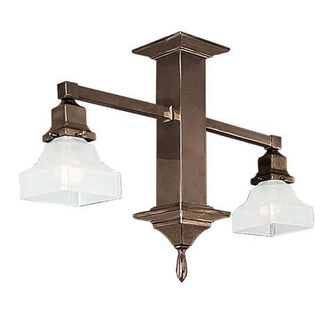 vintage hardware lighting mission style 2 arm pendant