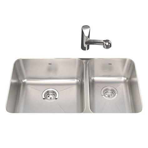 shop kindred silk double basin undermount kitchen sink  lowescom