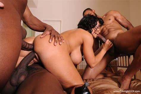 Interracial Group Drilling Fest