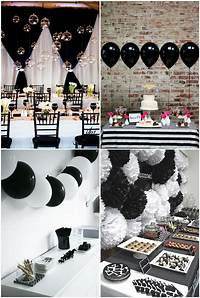 black and white decorations Simple Black And White Party Ideas … | julia | Black…