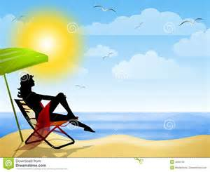 Sitting At Desk by Sitting On The Beach Clipart 55
