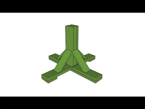 christmas tree support base how to build a christmas tree stand youtube