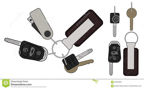 Set Of Realistic Keys Icons. Color Stock Vector