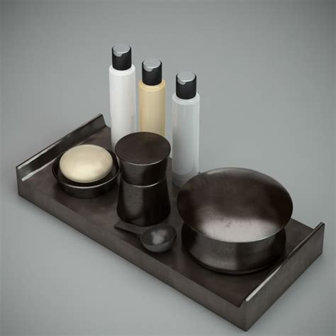 black bathroom accessories sets  model ds maxautodesk