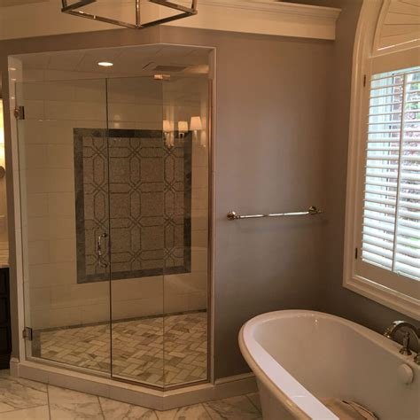 On Shower Neo Angle Glass Showers A D Glass Mirror