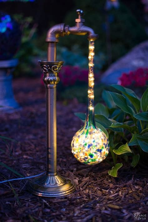 backyard solar lights diy waterdrop solar lights easy budget friendly and one