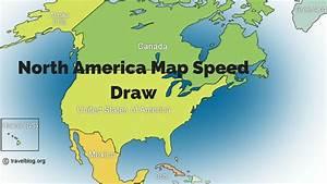 North America Map Speed Draw