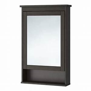 Miroir Salle De Bain Ikea : hemnes meuble miroir 1 porte teinture noir brun ikea ~ Teatrodelosmanantiales.com Idées de Décoration