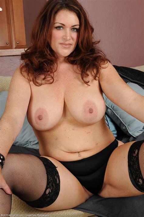 busty redhead milf ryan in stockings