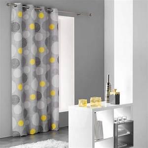 Rideau Jaune Et Blanc : rideaux jaune achat vente rideaux jaune pas cher cdiscount ~ Teatrodelosmanantiales.com Idées de Décoration