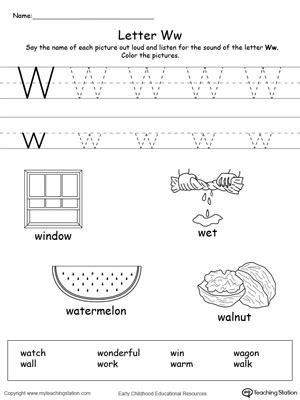 letter w activities words starting with letter w myteachingstation