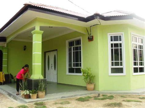 kombinasi warna cat rumah hijau desain properti modern