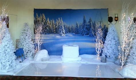 winter themed  frozen theme decorations  production