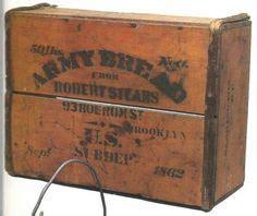original civil war watervliet arsenal colt ammo box