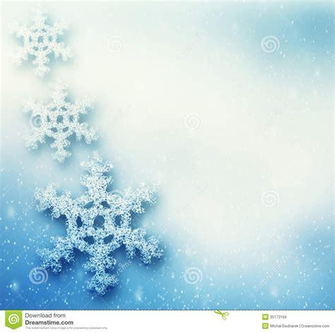winter christmas background  big snowflakes stock