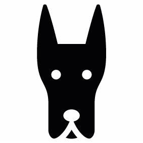Dog Head Silhouette - ClipArt Best
