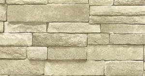 The Wallpaper Company 56 sq. ft. Neutral Stone Wallpaper ...
