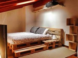 make a platform bed from pallets Quick Woodworking Projects