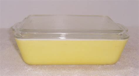 corelle vitrelle a resale pyrex 0503 32 yellow covered refrigerator jar
