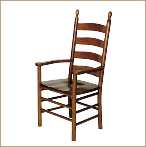 eh shaker ladder back arm chair chairs amish furniture