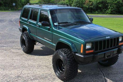 jeep cherokee green 2000 2000 jeep cherokee sport xj 72k low miles for sale