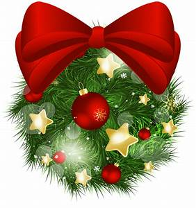 Transparent, Christmas, Pine, Ball, With, Red, Bow, Png, Picture