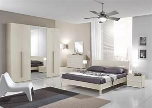 Camera da letto moderna larice panna Fiores Mobili