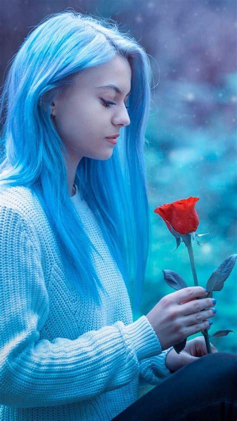 blue girl fk bb   girl wallpaper love