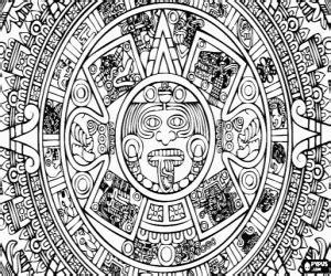 juegos de aztecas imperio azteca  colorear imprimir