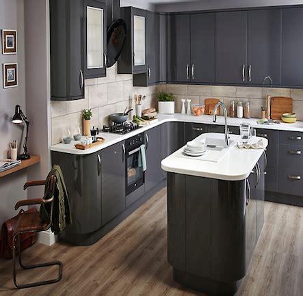 B&q It Santini Gloss Anthracite Slab Kitchencomparecom