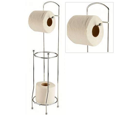 support papier toilettes m 233 tal sur pied avec d 233 rouleur wc
