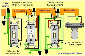 3 Way 4 Way Switch Wiring