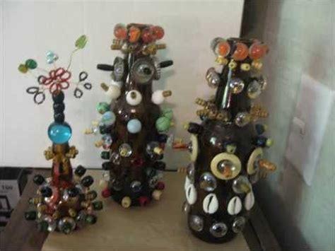 botellas decoradas  pintura dibujos chibolas conchas