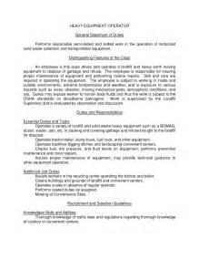 equipment operator resume cover letter construction equipment operator resume sle slebusinessresume slebusinessresume