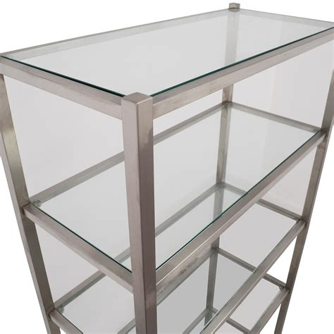 metal and glass bookcase 34 off room board room board brixton modern glass