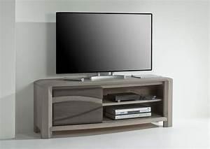 Meuble Tele Moderne : acheter votre meuble t l moderne 1 porte coulissantes ch ne chez simeuble ~ Teatrodelosmanantiales.com Idées de Décoration