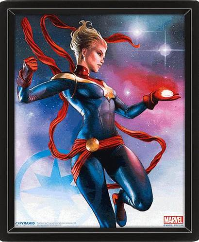 Marvel Captain 3d Poster Lenticular Comics Ms