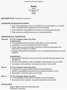 Combination resume template for Combination resume format